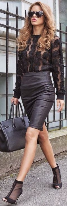 #summer #popular #outfits | Sheer + Leather