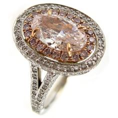 Jean & Alex, 2.02 carat fancy pink ring with two-rows of pink and white diamond micro-pave.
