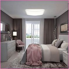 25 Gorgeous Purple bedroom ideas , Gorgeous Purple Bedroom Ideas Tips The bedroom includes a gorgeous mixture of purples. It comes with a gorgeous mix of purples. This small, dreamy bed. Home Room Design, Home Interior Design, Purple Bedrooms, Girl Bedroom Designs, Home Decor Bedroom, Bedroom Ideas, Cozy Bedroom, Master Bedroom, Minimalist Bedroom