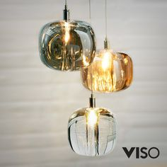 The post Viso Cubie Suspension Light appeared first on Lampen ideen. Blown Glass Pendant Light, Brass Pendant Light, Led Pendant Lights, Pendant Light Fixtures, Glass Pendants, Pendant Lamp, Pendant Lighting, Glass Pendant Shades, Glass Lights