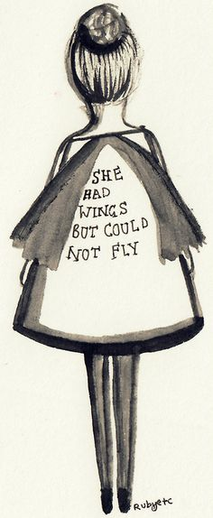She had wings but could not fly