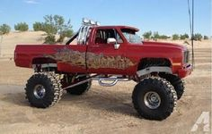 custom paint lifted trucks | 1985 Chevrolet 4x4 Lifted Custom Show Truck - Offroad or Show - NICE ...
