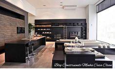 Modernas e Elegantes!     Os projetos com cozinhas americanas integradas com as salas de estar e jantar estão em alta! Com essa integraçã...