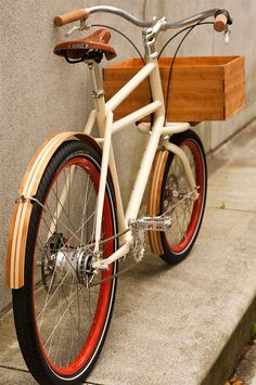 The Nose Bike combines large load capacity with agility, perfect for navigating neighborhood traffic and running errands, picking up groceries, or doing a beer run. Ezra makes the wooden fenders and the crate / platform combo, which disengages easily to carry larger loads.