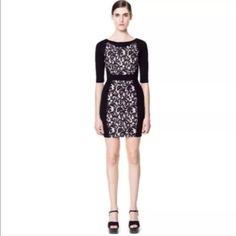 Black Zara dress Black Zara dress with lace. Used but in good condition. Zara Dresses