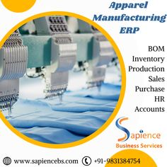 Simplify your textile manufacturing process with Sapience ERP for Textile Manufacturers in Kolkata / Apparel Manufacturers in Kolkata It can effectively maintain your stock of multiple processes and makes the production process simple. call 9831384754 or visit our website www.sapiencebs.com #garmentsmanufacturingerp #erpforgarmentsmanufacturing #manufacturingerp #processmanufacturingerp #apparelmanufacturingerp #textilemanufacturingerp #erpfortextilemanufacturers #erpforapparelmanufacturers Textile Manufacturing, Sale Purchase, Website Design Company, Kolkata, Software Development, Digital Marketing, India, Business, Simple