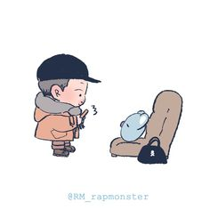 래몬 @RM_rapmonster Bts Chibi, Wallpaper Iphone Cute, Bts Wallpaper, Namjoon, Kpop Drawings, Kawaii Chibi, Bts Fans, Kpop Fanart, Cute Images