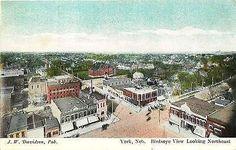 York Nebraska NE 1908 Aerial View Northeast Collectible Antique Vintage Postcard