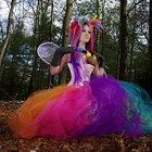 Neon Rainbow Formal Length Bridal Tulle TuTu Skirt