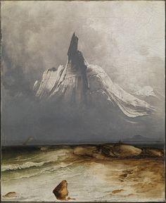 Peder Balke, «Stetind i tåke» 1864.