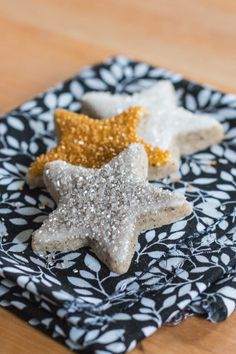 With strong coffee flavor and understated sweetness, these Espresso Star Cookies will put a spring in your step. #cookies #baking #holidaybaking #recipes #dessert
