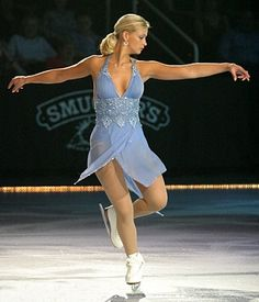 Nicole Bobek. Gorgeous dress, unfortunate trouble with the law off the ice.