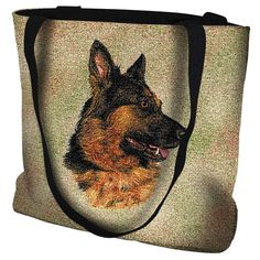 German Shepherd Dog Portrait Tote Bag