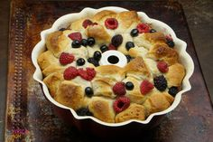 Mixed berry monkey bread.