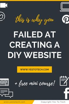 5 Reasons Why You Failed At Creating Your Own Website Before. Here's why you failed at creating your own website before and how to succeed this time around when creating a DIY website. website design | website design inspiration | website | website design layout | website layout | Marina Lotaif of Yes To Tech | Build Your Own DIY Website & Maximize Your Online Presence | Bold & Pop | Social Media, PR, Branding & Website Design | Writefully Simple | Branding + Website Design