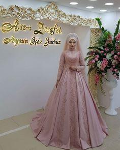✔ Dress Patterns Wedding New Looks Turkish Wedding Dress, Muslim Wedding Gown, Muslimah Wedding Dress, Wedding Party Dresses, Bridal Dresses, Flower Girl Dresses, Party Wedding, Beautiful Dress Designs, Most Beautiful Dresses