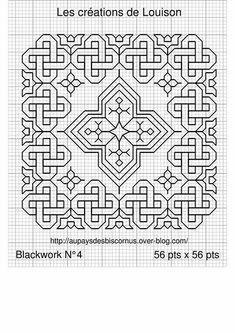 Blackwork Cross Stitch, Biscornu Cross Stitch, Celtic Cross Stitch, Blackwork Embroidery, Cross Stitch Love, Cross Stitch Designs, Cross Stitching, Cross Stitch Embroidery, Embroidery Patterns