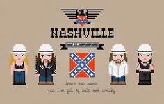 Nashville Pussy Cross Stitch PDF Pattern by pixelpowerdesign, $5.00