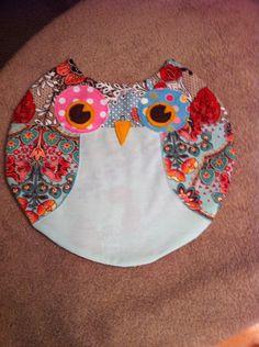 Unstuffed owl pillow