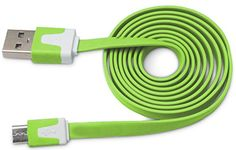 "myLife Pear Green {Solid Flat Noodle Design} 6' Feet (1.8 Meter) Quick Charge USB 2.0 Micro USB to USB Data Sync Cord for Phones, Cameras, Tablets and GPS Devices ""SEE COMPATIBILITY"" (Durable Rubber Coat) myLife Brand Products http://www.amazon.com/dp/B00O9DUSZQ/ref=cm_sw_r_pi_dp_BM.tub1DAWS2F"