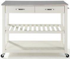 Kitchen Cart with Optional Stool Storage
