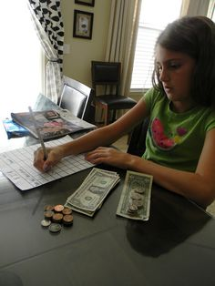 Allowance. You do not get paid for chores because it's an expected part of being a family. Allowance is teaching children how to manage money. This mom started this with her kids (6 & 9 years old), the chore list doesn't get money but the commission chart does! There are different chores on each. AND she incorporates tithing and savings! Brilliant!.