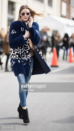 Olivia Palermo seen in the streets of Manhattan on February 13 2017 in New York City