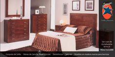 #Dormitorio #matrimonio en #Sevilla. #Muebles y #Decoración La Ponderosa en San Juan de Aznalfarache, #Andalucía #Marrón
