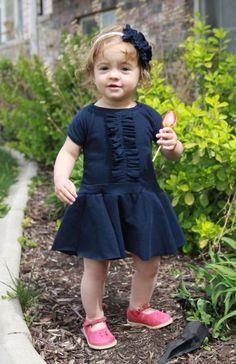 ruffle front circle skirt dress