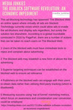 Media junkies is a online marketing service providing agency in there are a number of reasons why users use ad blockers for some its because they find the content annoying others are concerned about security fandeluxe Choice Image