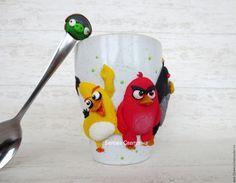Купить Кружка Энгри Бёрдс злые птички - комбинированный, желтый, красный, черный, зеленый
