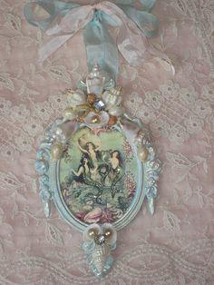 Vintage Mermaid, Mermaid Art, Mermaid Shell, Mermaid Beach, Manualidades Shabby Chic, Shibori, Muebles Shabby Chic, Mermaid Illustration, Shabby Chic Crafts