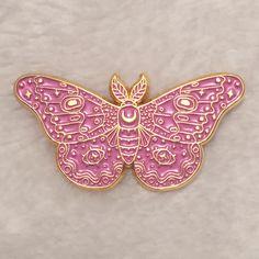 Caitlin Stout — Moth Pink Enamel Pin
