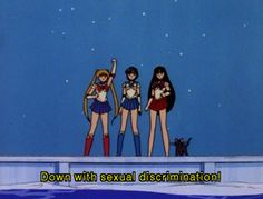 """""""Sailor Moon: """"Down with sexual discrimination! Sailor Moon: Gateway to Feminism Sailor Moons, Sailor Moon Quotes, Sailor Moon Funny, Sailor Uranus, Sailor Moon Aesthetic, Aesthetic Anime, Aesthetic Pics, Aesthetic Grunge, Petra Collins"""