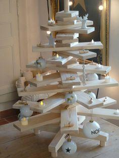 Sapin en bois - planches en 3D