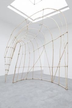 Martin Puryear, Untitled, 2014. Hardwood saplings, cordage, 174 1/2 x 148 x 52 inches; 443 x 376 x 132 cm (as seen at Matthew Marks Gallery on November 15, 2014)