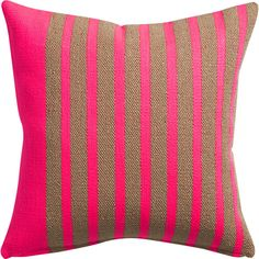 """division neon pink 20"""" pillow"""