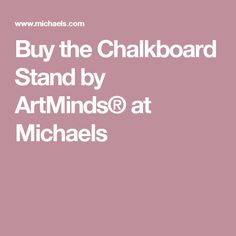 Buy the Chalkboard Stand by ArtMinds® at Michaels