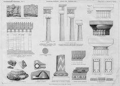 xm Architectural Prints, Architectural Antiques, Architectural Elements, Ancient Greek Architecture, Classical Architecture, Architecture Details, Roman Columns, Hellenistic Period, Base Moulding