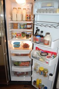 Check this ladys info, she has lists to stock pantry, utensils, fridge for clean eating!