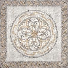 Marcius Travertine Medallion - 24 Inches x 24 Inches Home Depot Canada