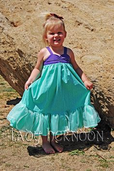 My Fairy Tale: Ariel Dress from Disney's The Little Mermaid - Sizes 6, 7, 8 and 10 on Etsy, $75.00