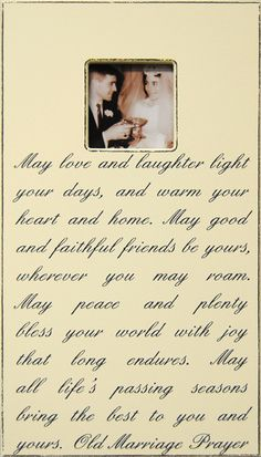 Small Quote Photo Frame - Irish Marriage Prayer