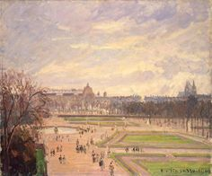 Camille Pissarro | Tuileries Gardens | oil on canvas | 1900 ~ Камиль Писсарро | Сады Тюильри | холст, масло | 1900 г.; Hermitage, St Petersburg