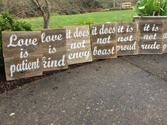 Love is patient Love is kind by AllMyGoodness on Etsy