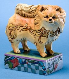 -Heartwood Creek Dog Figurines Jim Shore - Pomeranian