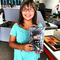 Trinity was one of our teen #KindleFire winners for the #SummerReadingClub.  The best part is, the day she got the call and was told she won was actually her #Birthday.  So, for her birthday, the library was able to give her a #tablet. How awesome is that? #AbilenePublicLibrary #FriendsOfTheLibrary #TeenWinner #ReadingClub #ChampionReader #Smile #Prizes #Fun #Summer #Cool #Awesome