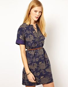 #NW3 Japanese Floral #MiniDress with Leather Belt