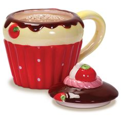 This ceramic mug takes the form of a tasty-looking cupcake. Description from hawkin.com. I searched for this on bing.com/images