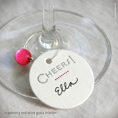 """""""Cheers"""" Dotted Wine Glass Markers {#286}"""